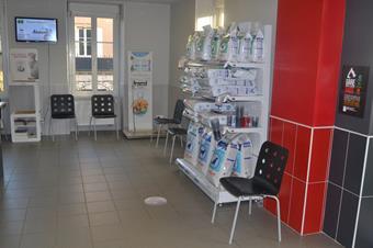 Salle d'attente, clinique vétérinaire Cristal Vet
