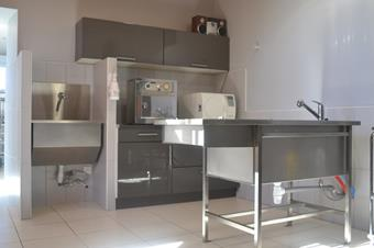 Salle de préparation chirurgicale, clinique vétérinaire de Baccarat